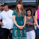 Jessica Biel making an appearance on 'Good Morning America' (August 3)