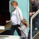 Isla Fisher - Takes Her Daughter To The Children Gym In West Hollywood, 2010-04-27