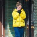 Doutzen Kroes in Yellow Jacket – Out in New York City - 454 x 700