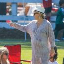Kate Hudson at her son to soccer practice in Malibu