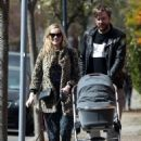 Laura Whitmore – With Iain Sterling out with their newborn baby in outin London - 454 x 678