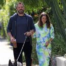 Ana De Armas and Ben Affleck – Taking their dogs for a stroll in Venice