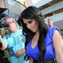 Kim Kardashian: Cheering Her Man On