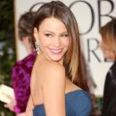 Sofia Vergara arrives at the 69th Annual Golden Globe Awards held at the Beverly Hilton Hotel on January 15, 2012 in Beverly Hills