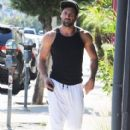 Maksim Chmerkovskiy stops by Hammer & Nails, a nail salon for men, in West Hollywood, California on August 7, 2014