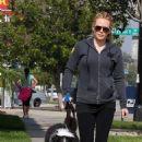 Hilary Duff: Dog Walking Damsel