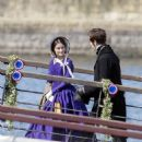Jenna Louise Coleman Filming the ITV drama 'Victoria' in Hartlepool - 454 x 551