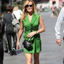 Amanda Holden in Green Mini Dress – Leaving Heart Radio in London - 454 x 720