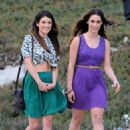 "Shenae Grimes and Jessica Lowndes: strolling along the Manhattan Beach set of ""90210"""