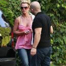 Britney Spears And Her Bodyguard Arrive At Her Lawyers Office In Los Angeles, July 2 2008