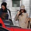 Dakota Johnson and Chris Martin – Leaving Vinnie's Barber Shop in The Hamptons