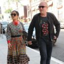 Salma Hayek and Francois-Henri Pinault are spotted out at a doctors office in Beverly Hills, California on August 29, 2016 - 427 x 600