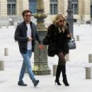 Sylvie Meis and her boyfriend out in Paris - 454 x 348