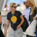 Kristen Stewart and Stella Maxwell – Arriving at JFK Airport in New York