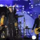 Mick Jagger of The Rolling Stones performs at du Arena, Yas Island on February 21, 2014 in Abu Dhabi, United Arab Emirates