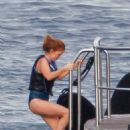 Isla Fisher Wearing Swimsuit In St Tropez