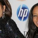 Whitney Houston with her daughter