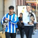 Sophie Turner and Joe Jonas Out with Their Dogs in New York 03/12/2019