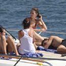 Selena Gomez in Bikini on a boat in Sydney Harbour adds - 454 x 303