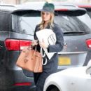 Rosie Huntington-Whiteley was seen holding her pregnant belly while shopping at ABC Carpet & Home store in New York City, New York on April 6, 2017 - 405 x 600