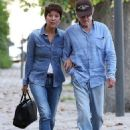 Robert Redford and wife Sibylle wear matching all-denim ensembles in France