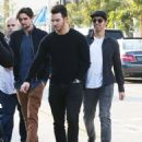Joe & Kevin Jonas meet some friends for lunch in Los Angeles, California on January 9, 2015 - 454 x 555