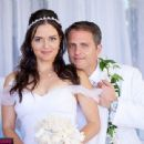 Danica McKellar and Scott Sveslosky Wedding Day November 15, 2014 - 454 x 340
