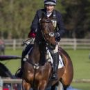 Zara Phillips riding CG Master Lux in the show jumping at the Hambledon Horse Trials, Oxfordshire - 352 x 594