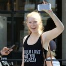 Molly Quinn – Leaving Cycle House in Studio City - 454 x 681