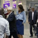 Katie Holmes Arrives in Montreal