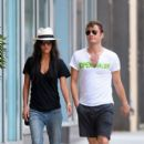 """Gossip Girls"" stars Ed Westwick and Jessica Szohr stroll around the East Village in New York City"