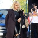 Rita Ora leaving the ITV Studios before heading to BBC Radio 1 in London. November 5, 2012