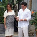 Vanessa Minnillo: eating out in Malibu