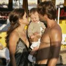 Brooke Burke Visits David Charvet On The Set Of