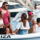 Real Madrid star Cristiano Ronaldo giggles with brunette beauty on holiday Ibiza after Eiza Gonzalez slams romance - 454 x 280