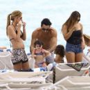 Aaron Diaz and Lola Ponce Enjoy a Day on the Beach in Miami
