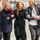 Jessica Chastain with friends out in New York City