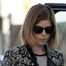 Kate Mara at a gas station in Malibu