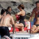 Retired football legend Ronaldo, 42, appears in great spirits as he takes a massive leap into the sea on fun-filled family trip in Spain - 454 x 303