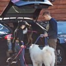 Ariel Winter and Levi Meaden take their dogs to the veterinarian in LA