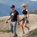 'Newly-engaged' Maggie Q displays her abs in a crop top on hike with 'fiancé' Dylan McDermott - 454 x 541