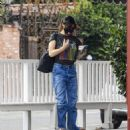Idina Menzel – In loose jeans seen at Sweet Rose Creamery in Brentwood - 454 x 544