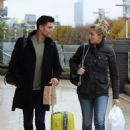 Gemma Atkinson and Aljaz Skorjanec – Arriving for dance rehearsals at a studio in Manchester - 454 x 612