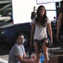 Megan Fox and Jake Johnson Filming New Girl In La