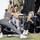 Tammy Hembrow – Shooting content for her fitness app at mermaid beach at Gold Coast
