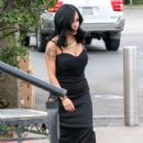 Nicole 'Snooki' Polizzi stop by the 'Extra' set January 26,2015 - 432 x 600