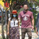 Ana De Armas – Looks cute in summer dress with Ben Affleck at Nick Fouquet hat shop in Venice - 454 x 679