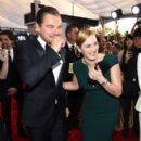 Leonardo DiCaprio and Kate Winslet At The 22nd Annual Screen Actors Guild Awards (2016) - 393 x 600