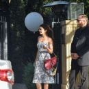 Sarah Hyland – Spotted leaving Jesse Tyler Ferguson's baby shower in Los Angeles