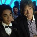 James Brown Jnr (youngest of James Brown's children) and Mick Jagger pictured in after-party - 'Get On Up' World Premiere - 21 July 2014